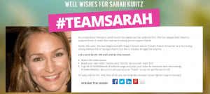 100WellWishes  TeamSarah   Sarah Kurtz 100 Well Wishes sponsored by Fried  Rogers  Goldberg  LLC
